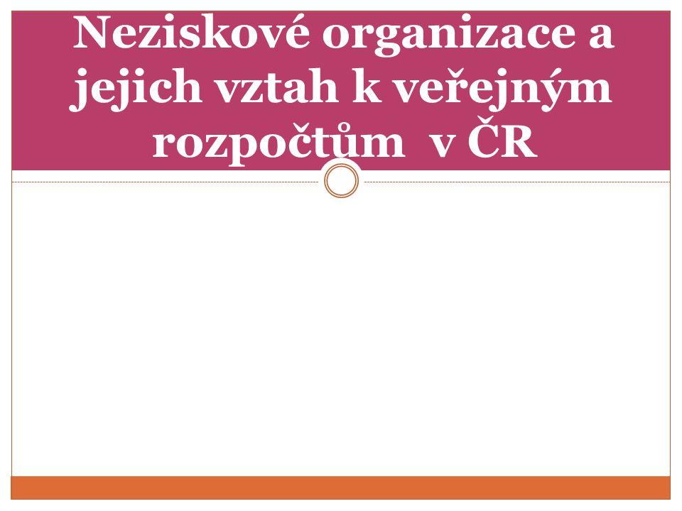 Finanční vztahy u různých typů neziskových organizací Financování resp.