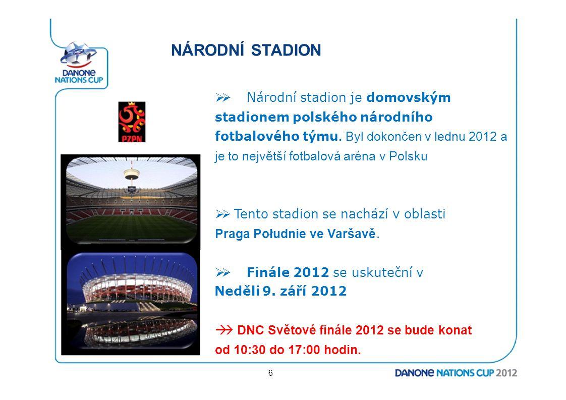 NÁRODNÍ STADION  Národní stadion je domovským stadionem polského národního fotbalového týmu. Byl dokončen v lednu 2012 a je to největší fotbalová ar