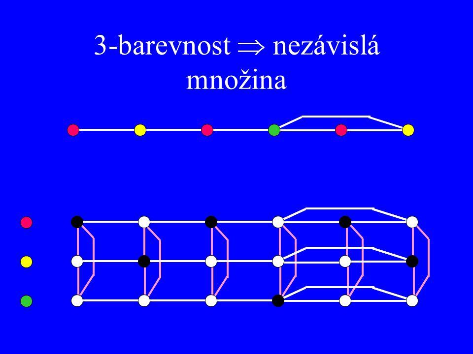 3-barevnost  nezávislá množina