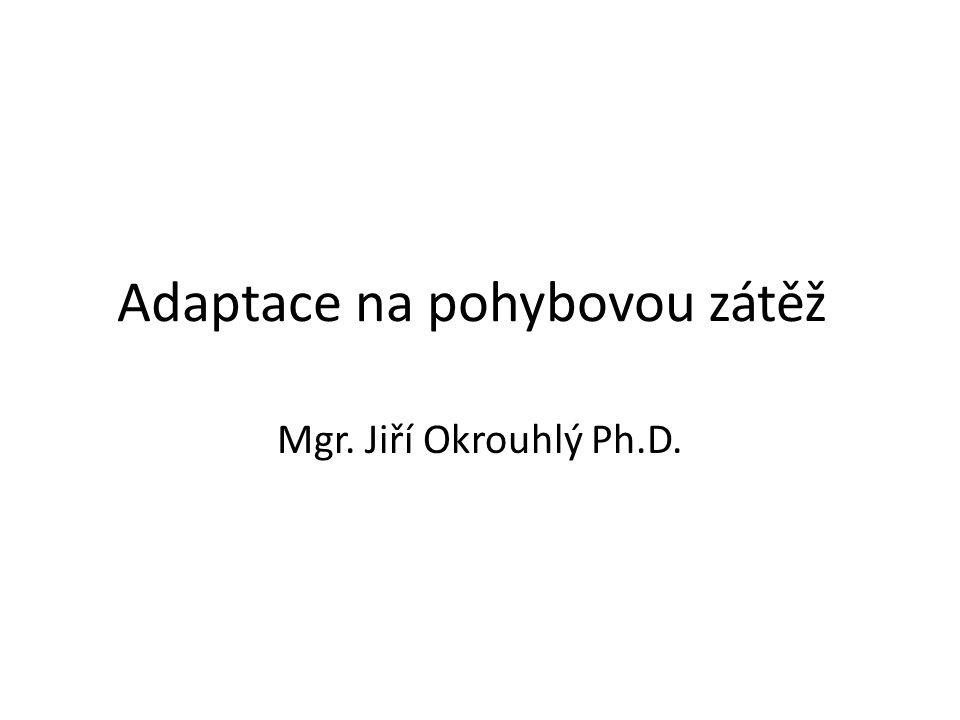 Adaptace na pohybovou zátěž Mgr. Jiří Okrouhlý Ph.D.