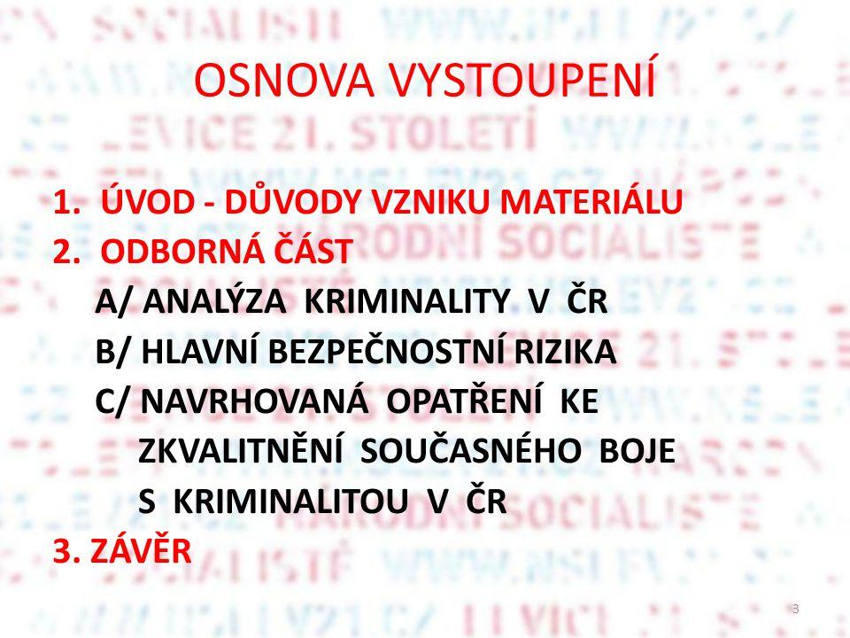 II.ÚKOLY V OBLASTI VNITŘNÍ BEZPEČNOSTI (1) II. 1.