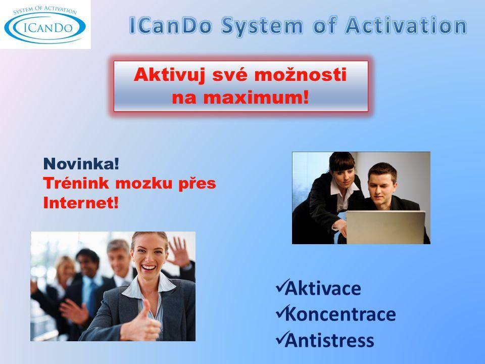 Aktivace Koncentrace Antistress Aktivuj své možnosti na maximum.