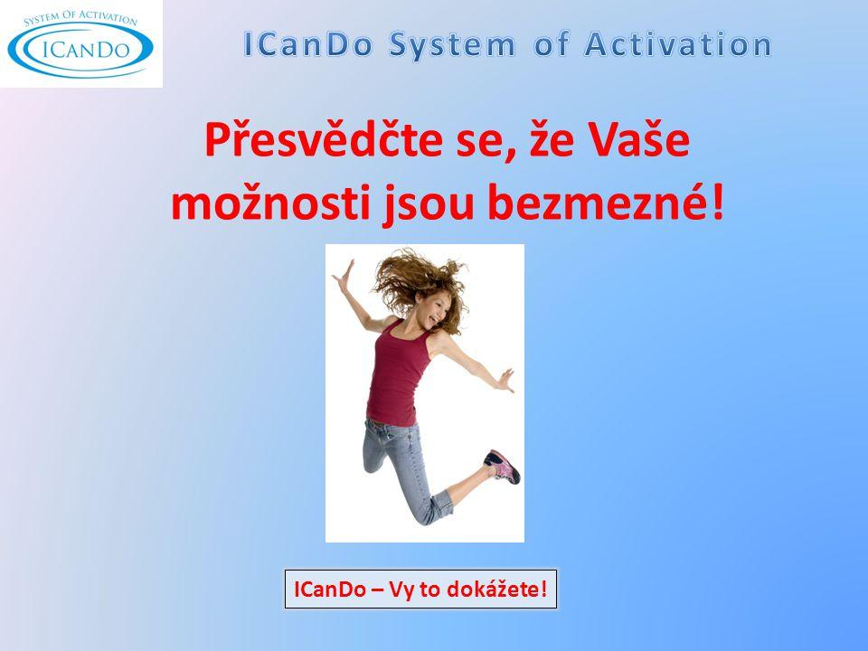 Přesvědčte se, že Vaše možnosti jsou bezmezné! ICanDo – Vy to dokážete!
