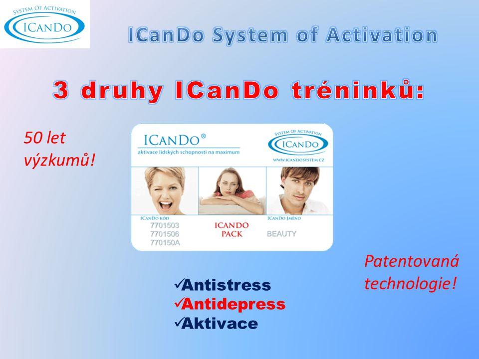 Antistress Antidepress Aktivace Patentovaná technologie! 50 let výzkumů!