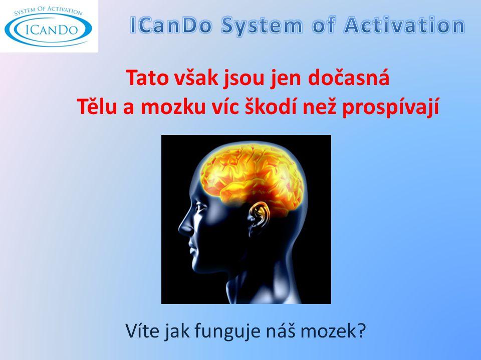 Tato však jsou jen dočasná Tělu a mozku víc škodí než prospívají Víte jak funguje náš mozek