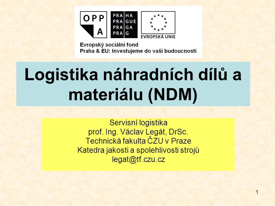 2 1 Úvod Dostupnost NDM je jedním z klíčových prvků správné funkce údržby a servisu strojů a zařízení zásobování nemůže správně fungovat bez moderního informačního systému, který tento proces efektivně řídí systém řízení zásob NDM by měl umožňovat: >komplexní analýzu zásob NDM >elektronické vyhledávání NDM >objednávání NDM
