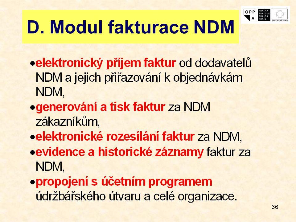36 D. Modul fakturace NDM