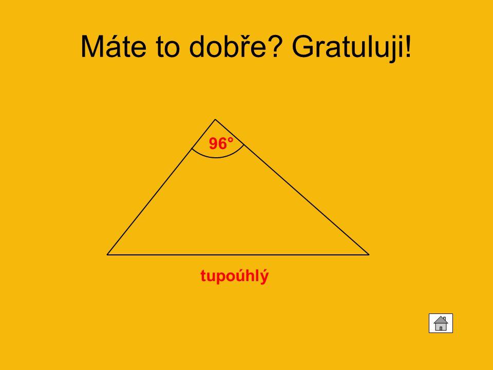 Vypočítejte velikost třetích vnitřních úhlů trojúhelníku a rozhodněte, jestli jde o trojúhelník ostroúhlý, tupoúhlý nebo pravoúhlý: 1.