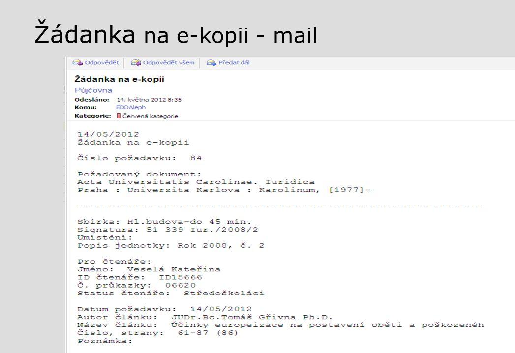 Žádanka na e-kopii - mail