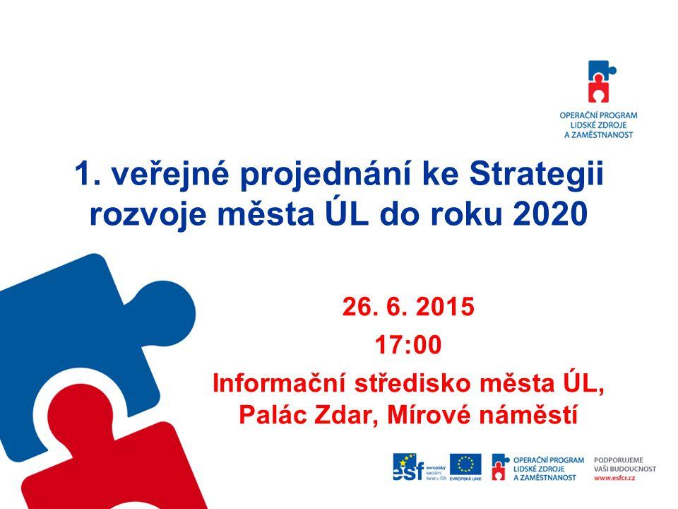 1. veřejné projednání ke Strategii rozvoje města ÚL do roku 2020 26.