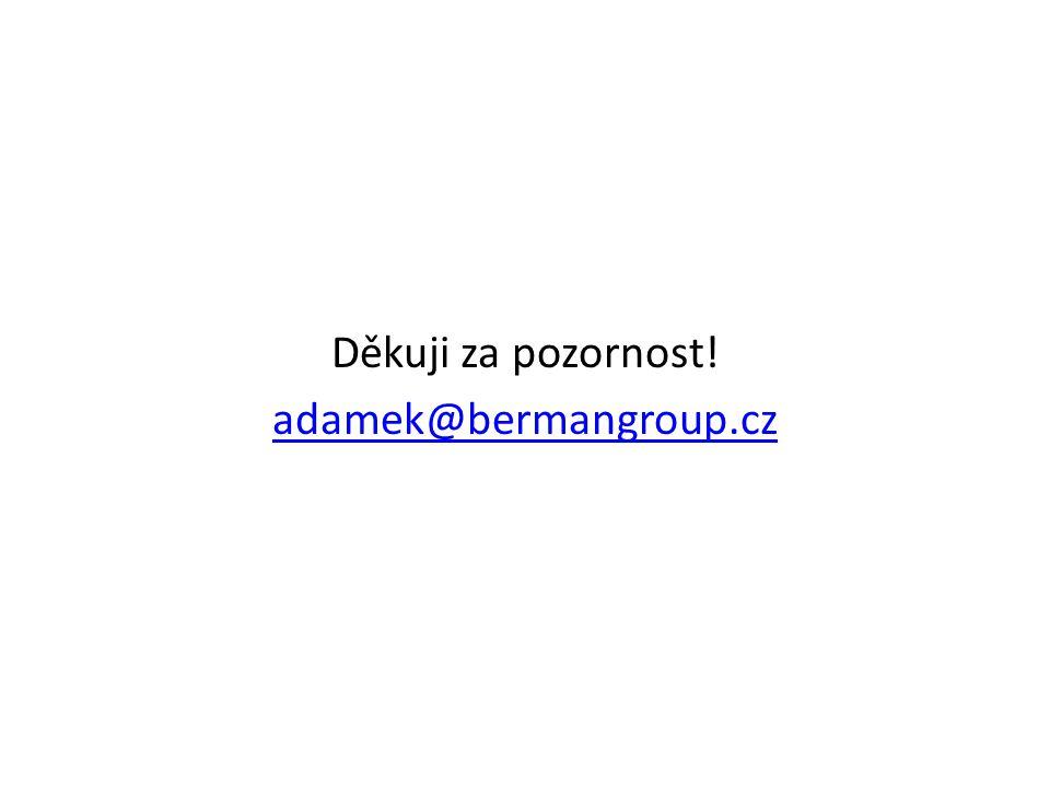 Děkuji za pozornost! adamek@bermangroup.cz