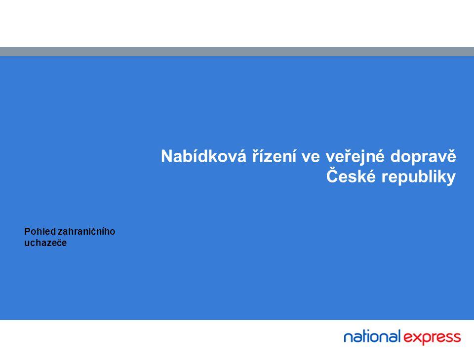 NedRailways Nabídková řízení ve veřejné dopravě České republiky Pohled zahraničního uchazeče