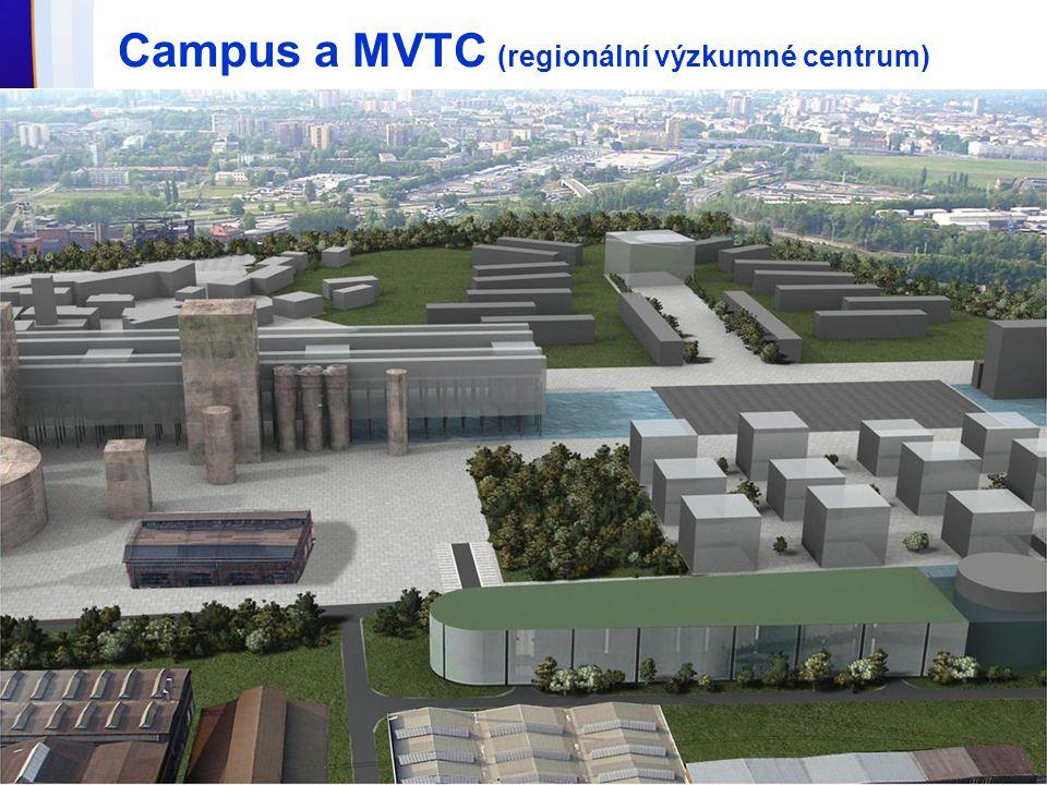 Campus a MVTC (regionální výzkumné centrum)
