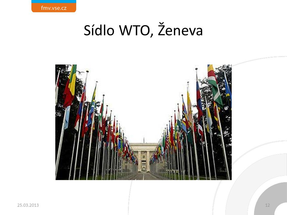 Sídlo WTO, Ženeva 25.03.201312