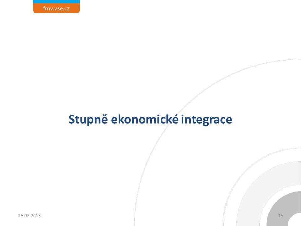Stupně ekonomické integrace 1525.03.2013