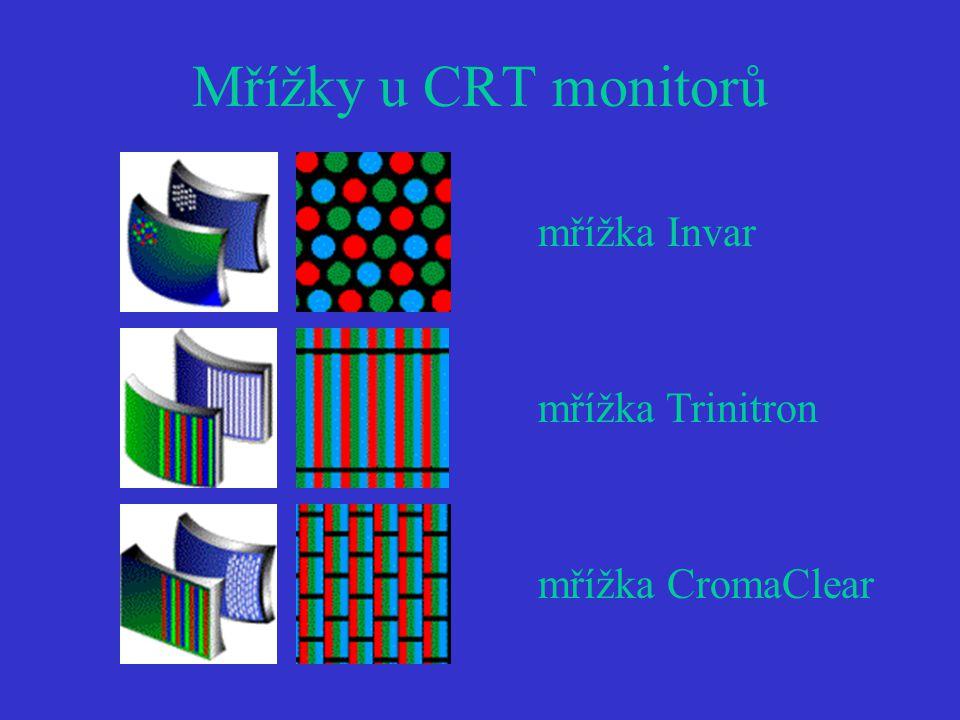 Mřížky u CRT monitorů mřížka Invar mřížka Trinitron mřížka CromaClear
