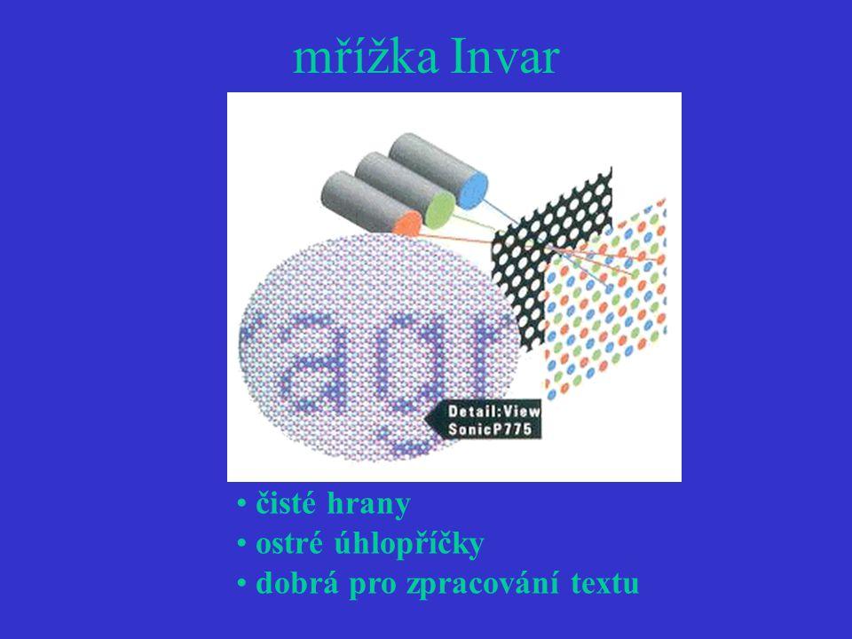mřížka Invar čisté hrany ostré úhlopříčky dobrá pro zpracování textu