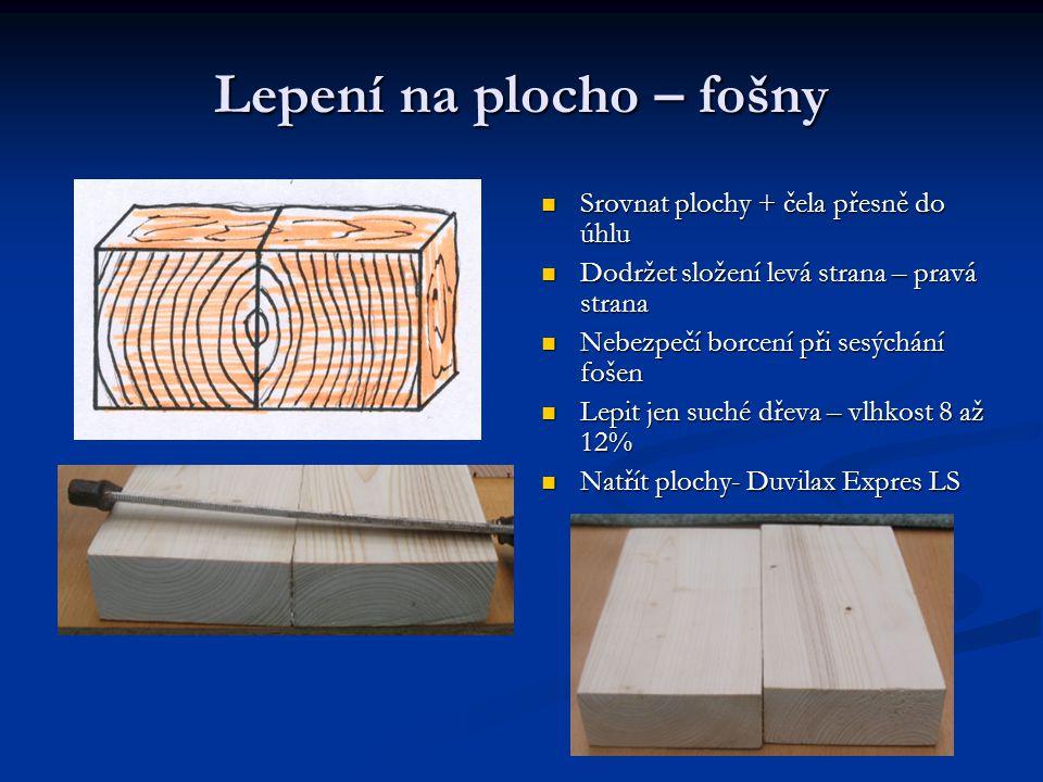 Duvilax Expres LS Používá se nezředěný Duvilax na tvrdé a měkké dřevo, dřevotřísky a jiné Používá se nezředěný Duvilax na tvrdé a měkké dřevo, dřevotřísky a jiné Nanést na suchý,očištěný materiál stěrkou,štětcem Nanést na suchý,očištěný materiál stěrkou,štětcem Spoj složíme a slisujeme pod lisem nebo pomocí svěrek Spoj složíme a slisujeme pod lisem nebo pomocí svěrek Pracovní teplota minimální 15°C Pracovní teplota minimální 15°C Spoj je možno mechanicky namáhat po 4hodinách Spoj je možno mechanicky namáhat po 4hodinách Duvilaxem Expres LS lze lepit papír,karton,lepenku,textil Duvilaxem Expres LS lze lepit papír,karton,lepenku,textil Před použitím důkladně promíchat,použité nářadí očistit ihned vodou Před použitím důkladně promíchat,použité nářadí očistit ihned vodou Dodržovat ochranu zdraví při práci – skladování – záruční doba dána výrobcem Dodržovat ochranu zdraví při práci – skladování – záruční doba dána výrobcem