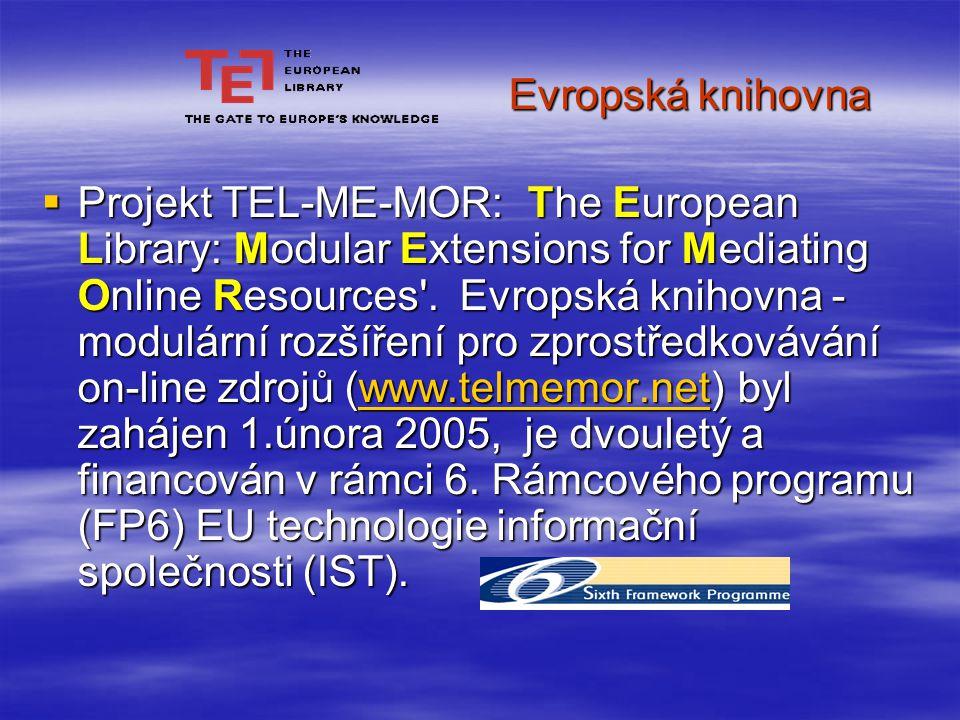 Partneři projektu  Do TEL-ME-MOR jsou zapojeny národní knihovny 10 nových členů států, jež vstoupily do Evropské unie v květnu 2004, ale také British Library, National Library of the Netherlands, Swiss National Library, CENL (Sdružení evropských národních knihoven), Die Deutsche Bibliothek, která je koordinátorkou projektu a Eremo srl, (italská společnost specializující se na projektový management v oblasti kulturního dědictví.