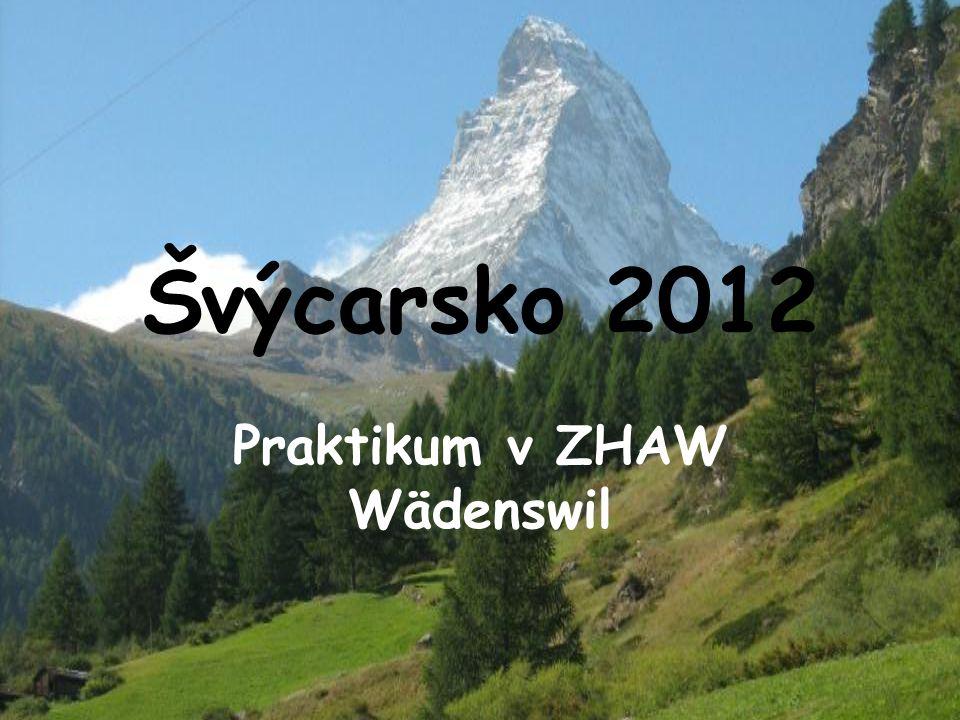 Švýcarsko 2012 Praktikum v ZHAW Wädenswil