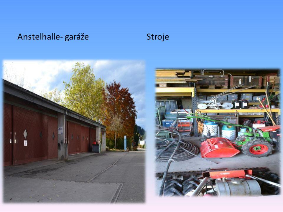 Anstelhalle- garážeStroje