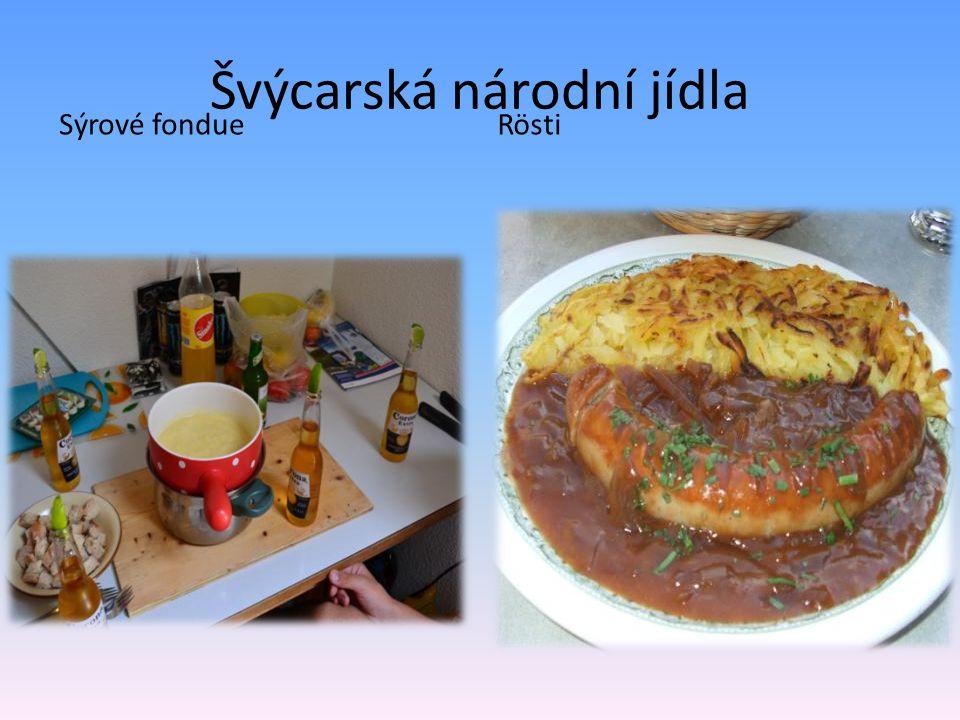 Švýcarská národní jídla Sýrové fondueRösti