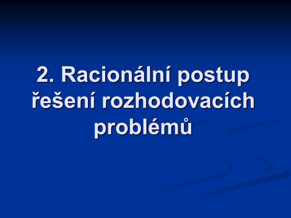 LS 2010/11 3KIP/MR - 2 KROKY ŘEŠENÍ situační analýza situační analýza analýza a formulace problémů, identifikace příčin problémů analýza a formulace problémů, identifikace příčin problémů rozhodovací analýza: výběr kritérií, tvorba variant, hodnocení a volba varianty určené k realizaci rozhodovací analýza: výběr kritérií, tvorba variant, hodnocení a volba varianty určené k realizaci retrospektivní analýzy a hodnocení retrospektivní analýzy a hodnocení
