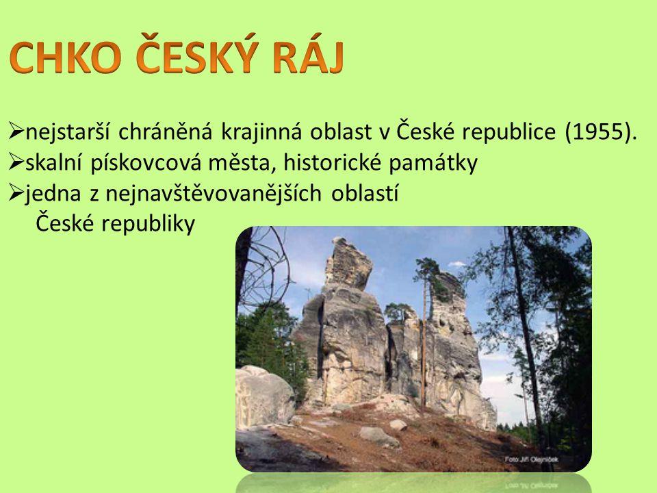  nejstarší chráněná krajinná oblast v České republice (1955).