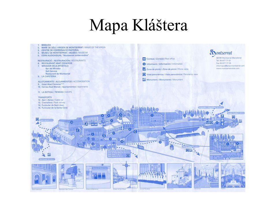 Mapa Kláštera