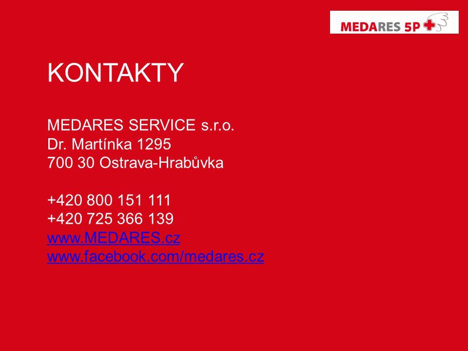 KONTAKTY MEDARES SERVICE s.r.o. Dr.