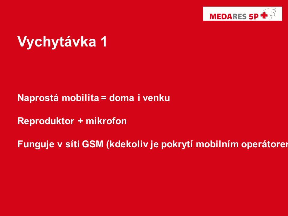 Naprostá mobilita = doma i venku Reproduktor + mikrofon Funguje v síti GSM (kdekoliv je pokrytí mobilním operátorem) Vychytávka 1