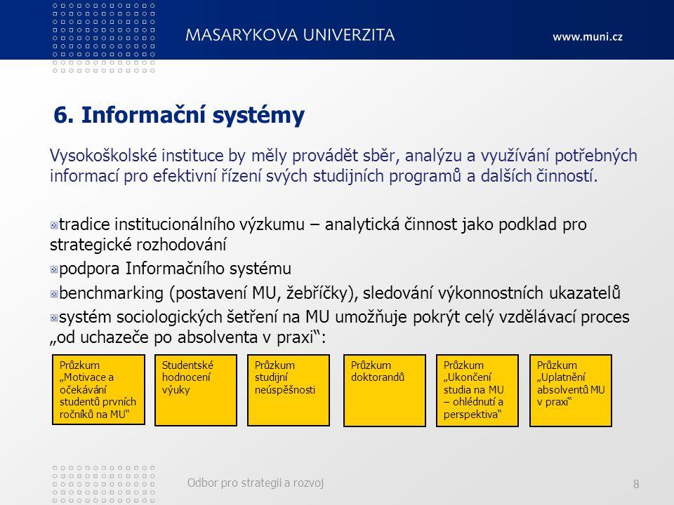 Odbor pro strategii a rozvoj 8 6.