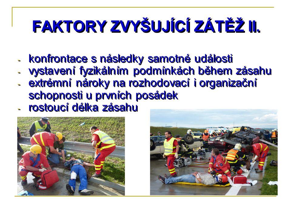 FAKTORY ZVYŠUJÍCÍ ZÁTĚŽ II.