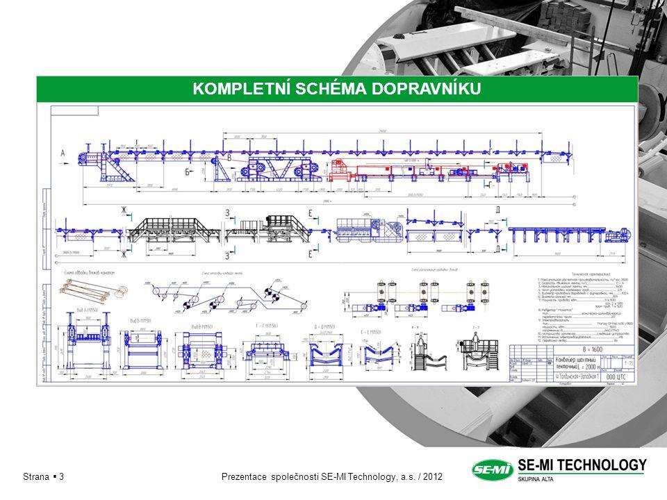 Prezentace společnosti SE-MI Technology, a.s. / 2012 КОМПЛЕКТНАЯ СХЕМА КОНВЕЙЕРА Strana  3 KOMPLETNÍ SCHÉMA DOPRAVNÍKU