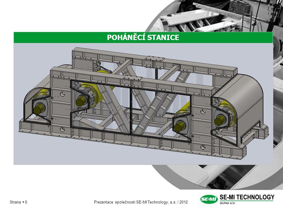 Prezentace společnosti SE-MI Technology, a.s. / 2012 Strana  6 POHÁNĚCÍ STANICE