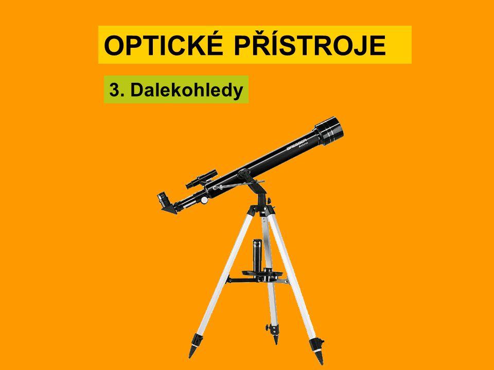 Galileův dalekohled Divadelní kukátko Galileův dalekohled vytváří vzpřímený obraz, hodí se proto i na pozorování pozemských objektů.