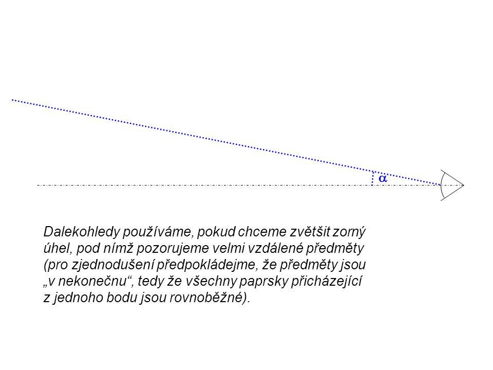Keplerův dalekohled  Keplerův dalekohled tvoří soustava dvou spojných čoček.