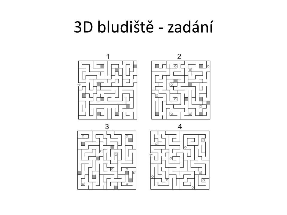 3D bludiště - zadání