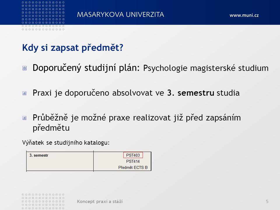 """Koncept praxí a stáží6 Ochutnávka praxí mimo předmět PST403 Studenti mají možnost obeznámit se s některými pracovišti pomocí """"Dní na psychoterapeutickém pracovišti Některé akce s podrobnými informacemi jsou již k dispozici na stránkách IKAPSY: http://www.opvk.fss.muni.cz/ikapsy/praxe-a-staze# http://www.opvk.fss.muni.cz/ikapsy/praxe-a-staze#"""