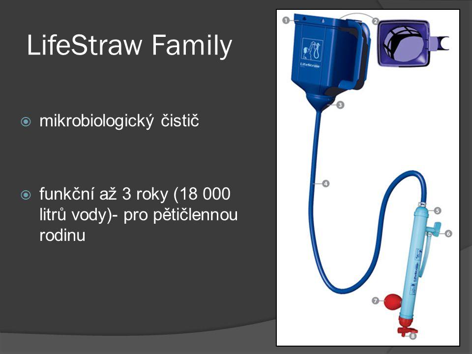 LifeStraw Family  mikrobiologický čistič  funkční až 3 roky (18 000 litrů vody)- pro pětičlennou rodinu