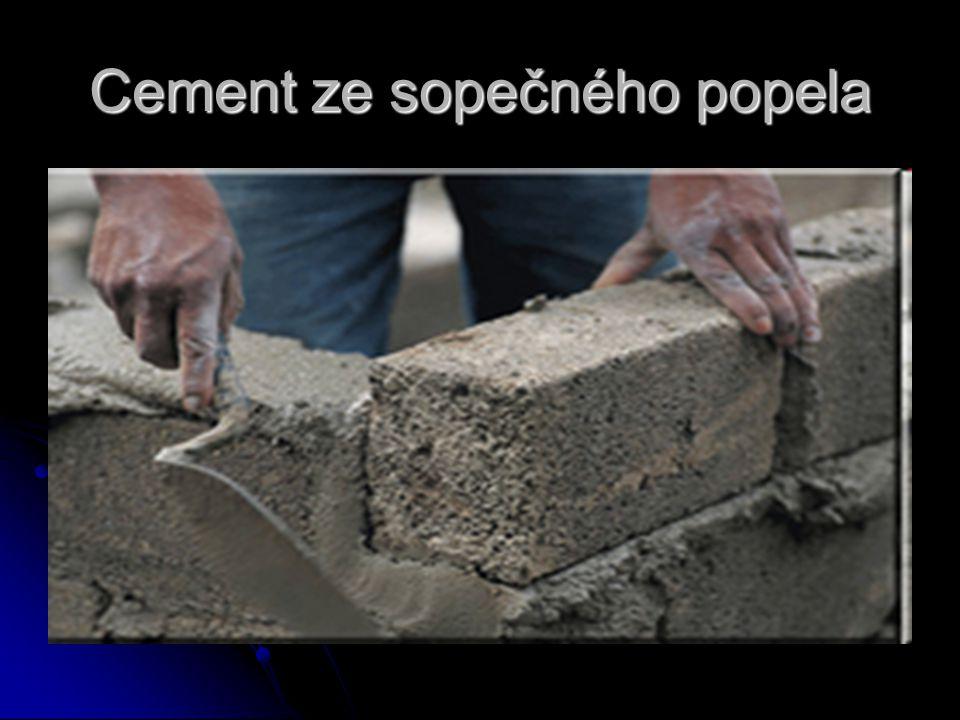 Cement ze sopečného popela