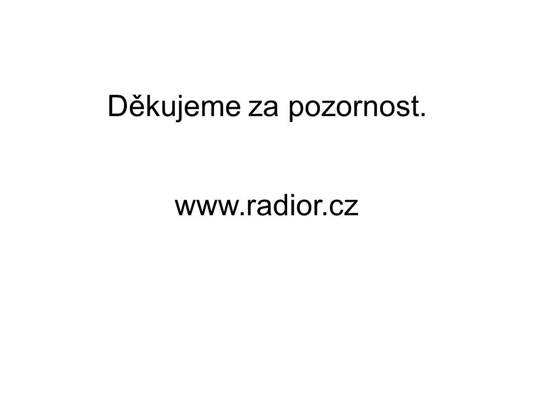 Děkujeme za pozornost. www.radior.cz