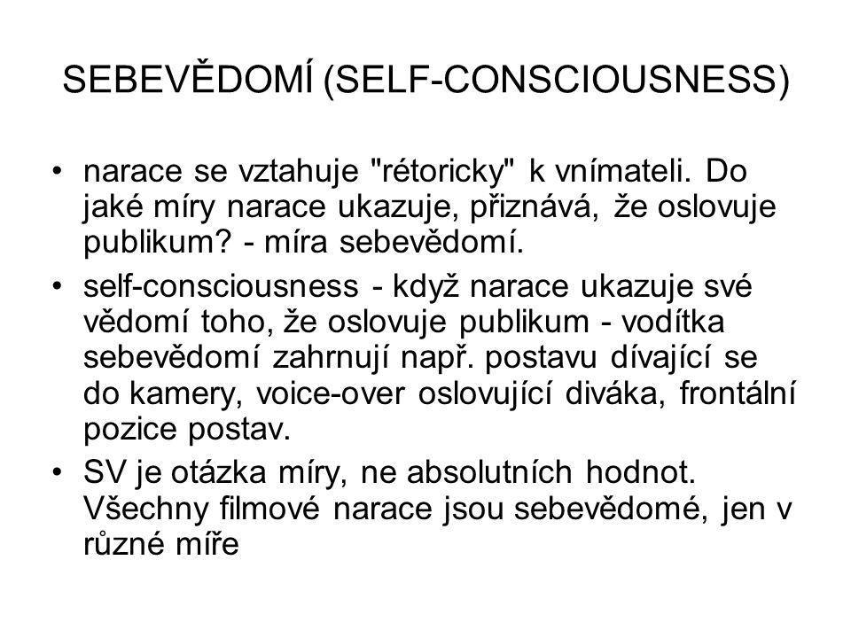 SEBEVĚDOMÍ (SELF-CONSCIOUSNESS) narace se vztahuje