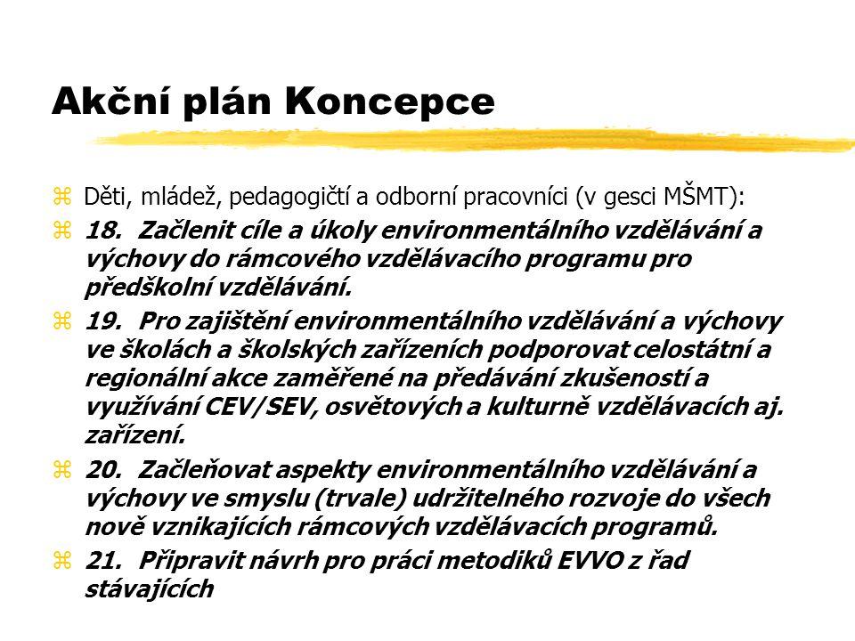 Akční plán Koncepce zDěti, mládež, pedagogičtí a odborní pracovníci (v gesci MŠMT): z18.