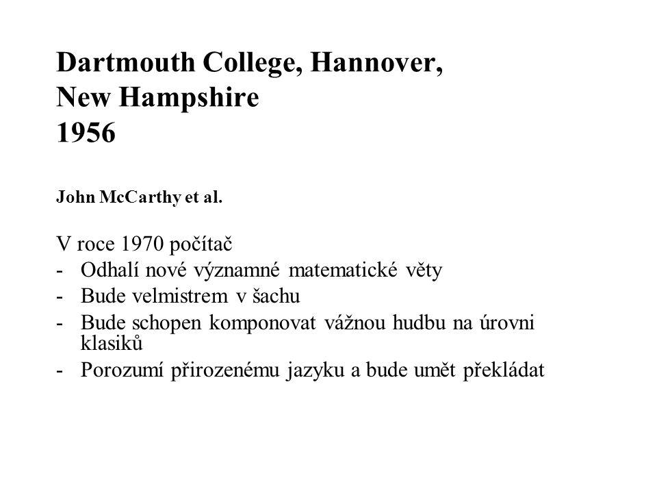 Dartmouth College, Hannover, New Hampshire 1956 John McCarthy et al.
