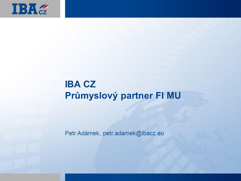 Osnova IBA CZ – průmyslový partnert FI MU  Představení společnosti  IBA GROUP  IBA CZ  Co děláme  Spolupráce s FI MU  Co nabízíme studentům  SWSC 2011 2 © 2011 IBA CZ, s.r.o.
