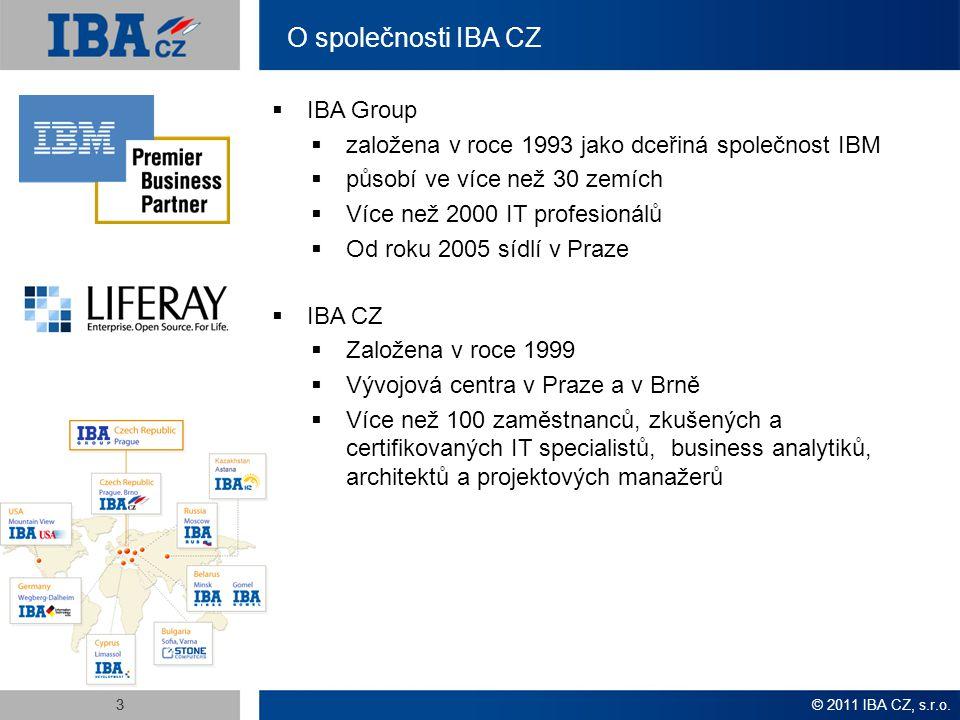 off-shore outsourcing údržba vývoj software podpora 24/7 near-shore e-business off-shore outsourcing on-shore distribuce vývoj software údržba near-shore off-shore outsourcing podpora 24/7 e-business migrace near-shore distribuce on-shore vývoj software údržba IT konzultace Služby IBA CZ Podnikové IT systémy  Podnikové portály (IBM Websphere Portal, Liferay)  Business Intelligence (Cognos, Pentaho), DWH, ETL  Business Process Management  Enterprise Content Management, DMS  Integrace podnikových aplikací a infrastruktury Technologie a architektury  Open Source i proprietární  Java, Java EE (EJB, JSF, AJAX…)  Java portály, JSR-168, JSR-286 (IBM Websphere Portal, Liferay)  Mainframe (Systémové a aplikační programování)  IBM technologie (WebSphere, Rational, Lotus, AIX, DB/2)  SOA, ESB, JBI, BPMS, BPEL, BPMN OS Platformy  Linux, UNIX, AIX, Windows, Mainframe,...