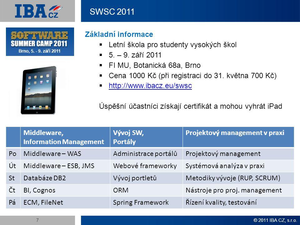 Kontakty IBA CZ Petr Adámek University Relations petr.adamek@ibacz.eu IBA CZ, s.r.o.IBA CZ Development Center Petržílkova 2565/23Křenová 72 158 00 Praha 5602 00 Brno Tel.: (+420) 543 426 800 http://www.ibacz.eu/ - hlavní nadpis: Arial, vel.