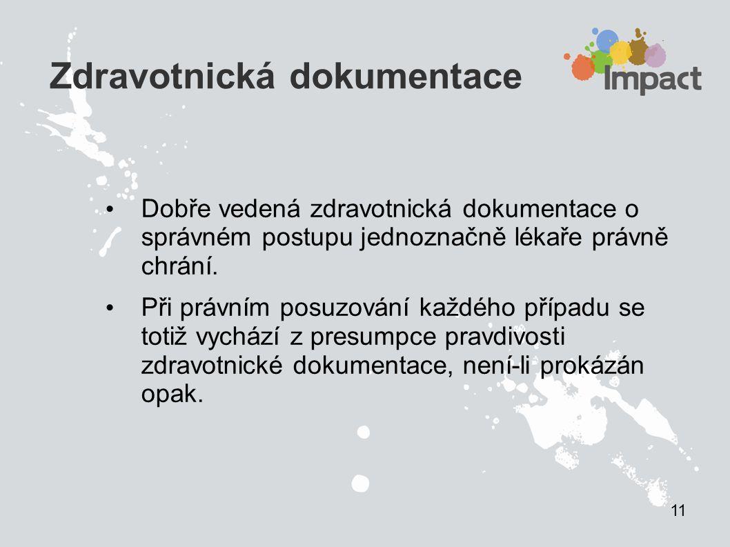 Dokumentace legislativa Zákon o zdravotních službách 372/2011 Sb.