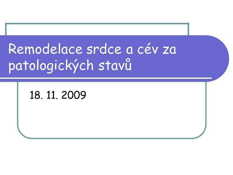 Remodelace srdce a cév za patologických stavů 18. 11. 2009